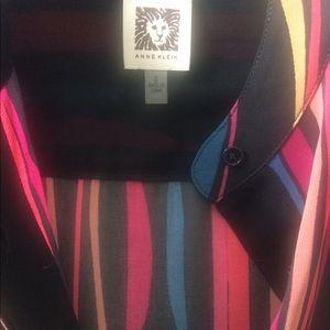 Anne Klein Tops - Anne Klein Chiffon Multicolor Shirt Size 8